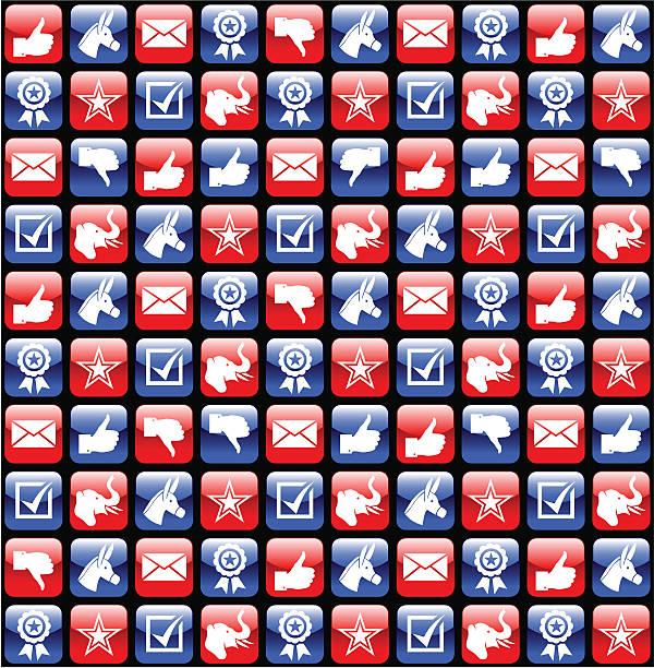 сша выборы значки с глянцевой - presidential debate stock illustrations