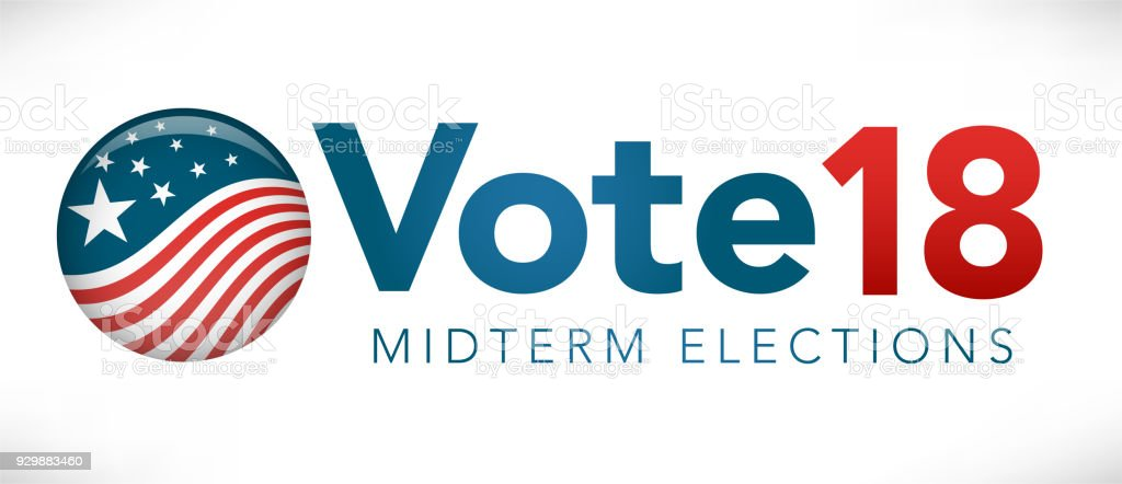 Election header banner with Vote vector art illustration