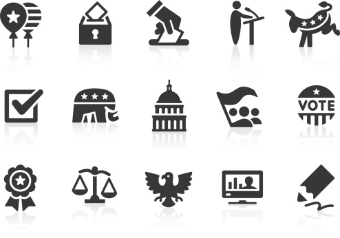 Election icons 1 clipart