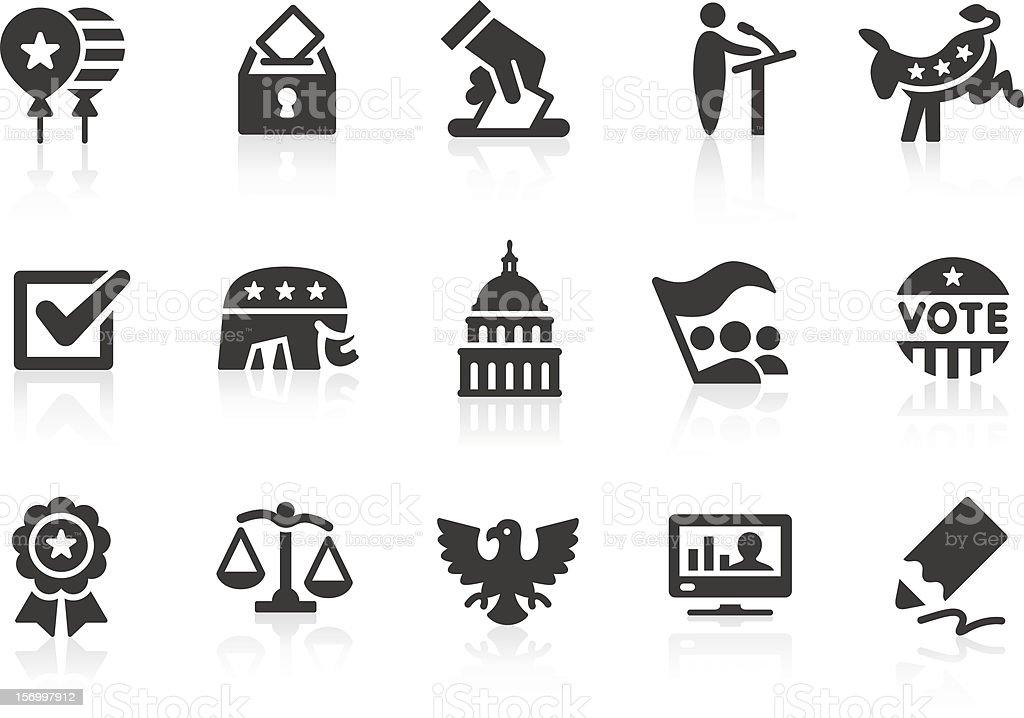 Élection icônes 1 - Illustration vectorielle