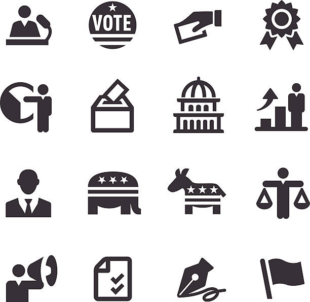 Election Icons - Acme Series vector art illustration