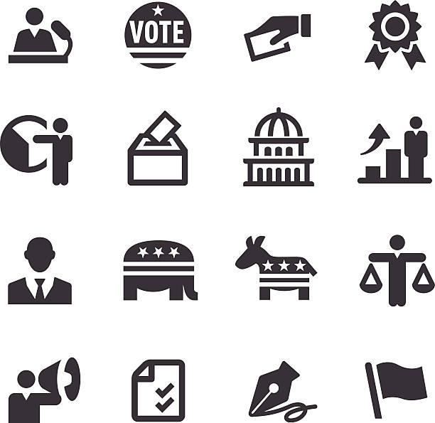 ilustrações, clipart, desenhos animados e ícones de eleição ícones-a acme series - político