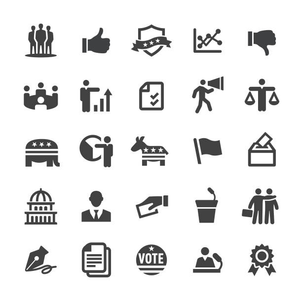 Election Icons - Smart Series Election, party conference stock illustrations