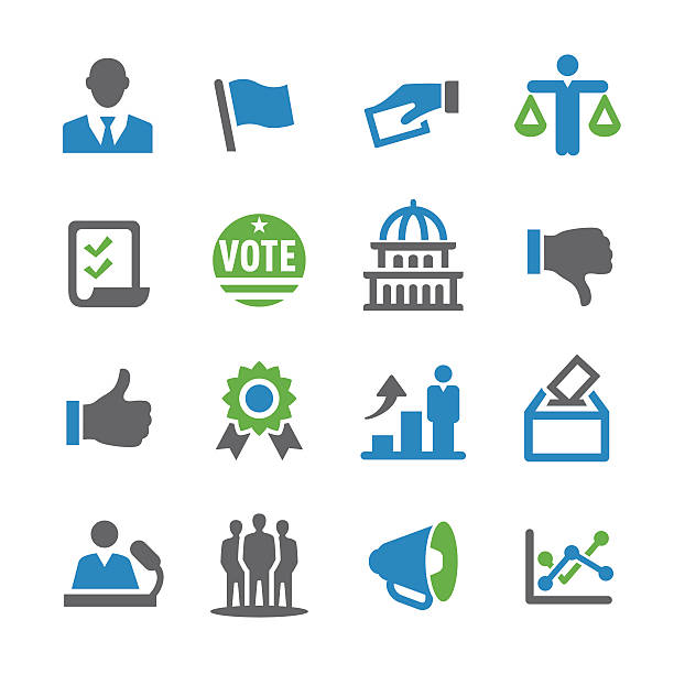 Election Icons - Spry Series View All: party conference stock illustrations