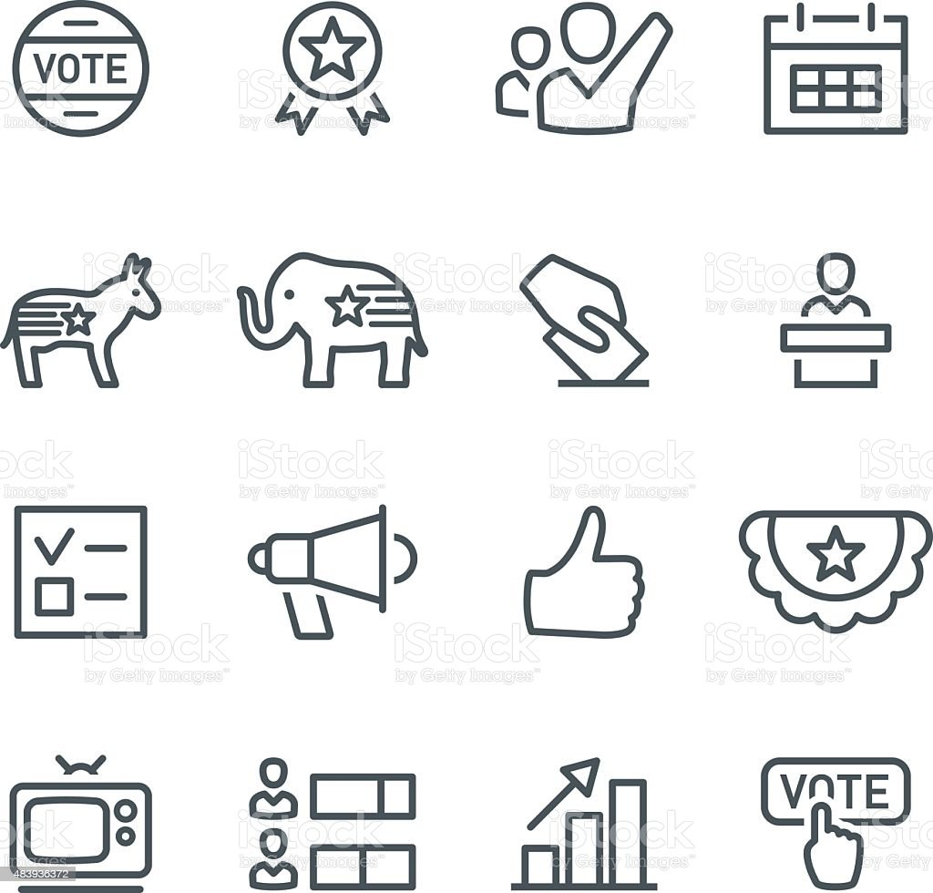 Election Icons vector art illustration