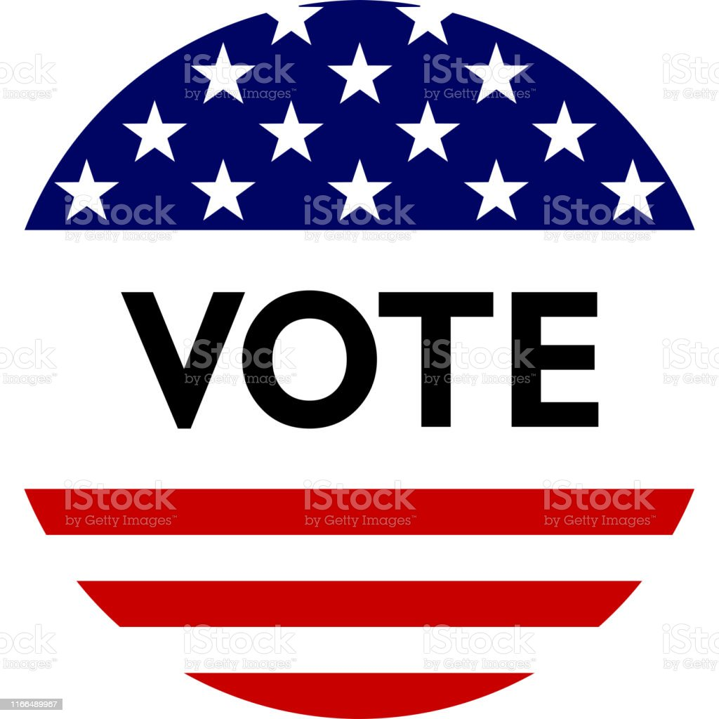 Usa Election Label Background For Pin Badge Election Campaign