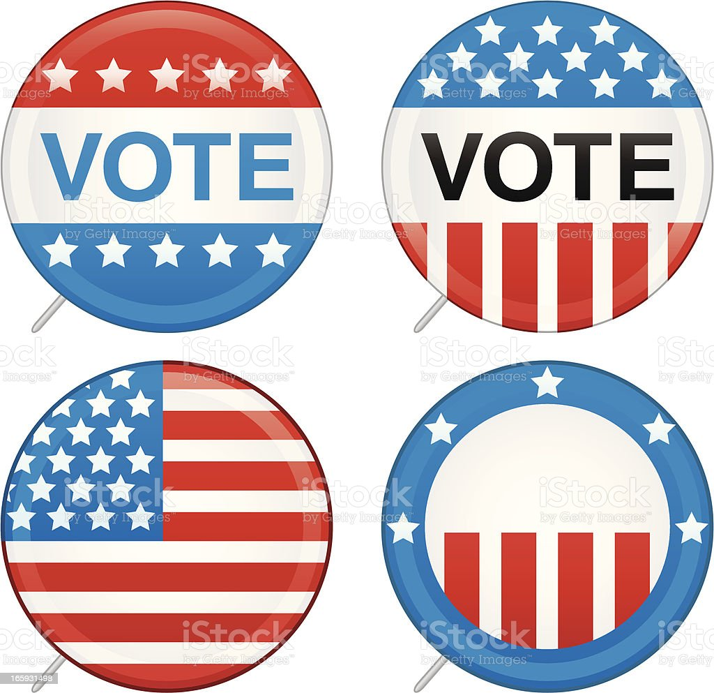 Election Pins royalty-free stock vector art