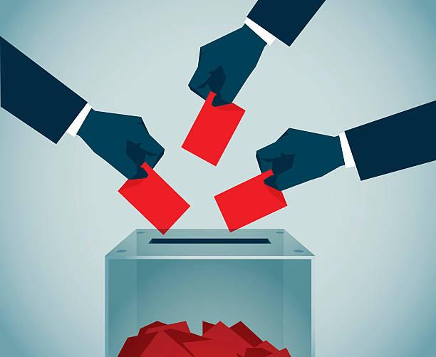 ilustraciones, imágenes clip art, dibujos animados e iconos de stock de elección - polling place