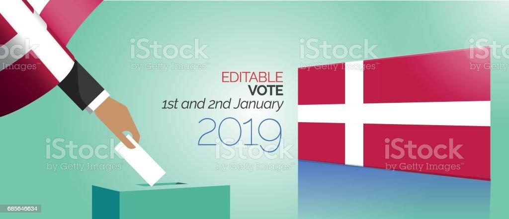 選舉投票框丹麥 免版稅 選舉投票框丹麥 向量插圖及更多 丹麥 圖片