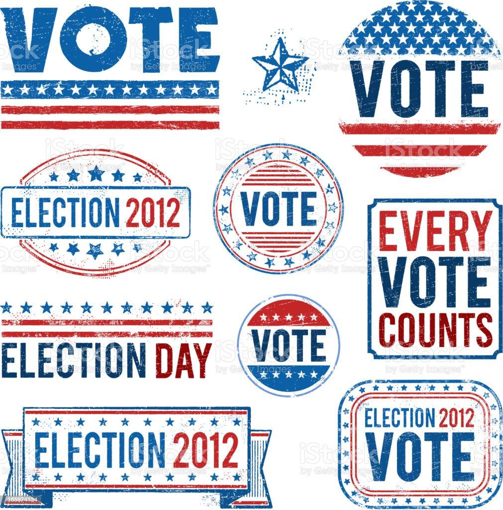Election Vote Elements vector art illustration
