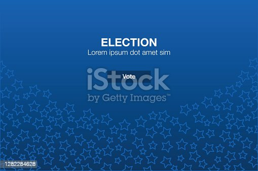 Vector of USA Election Vote with Star Icons Mosaic Background with Call to Action