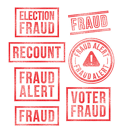Election Voter Fraud Rubber Stamps
