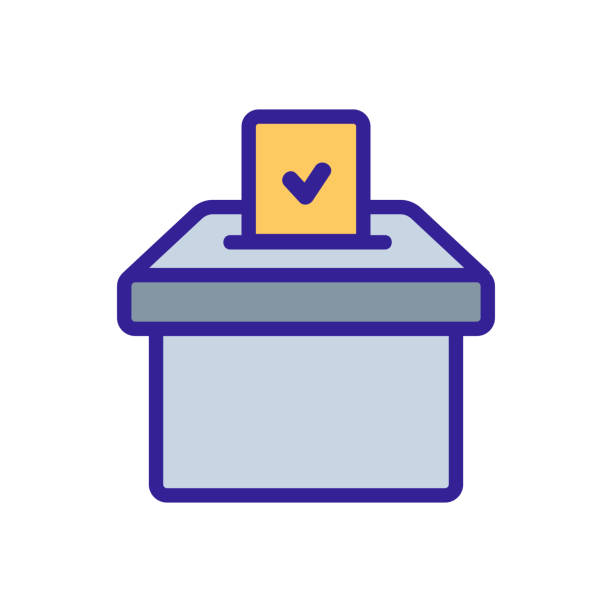 election voting icon vector. Isolated contour symbol illustration election voting icon vector. Thin line sign. Isolated contour symbol illustration human limb stock illustrations