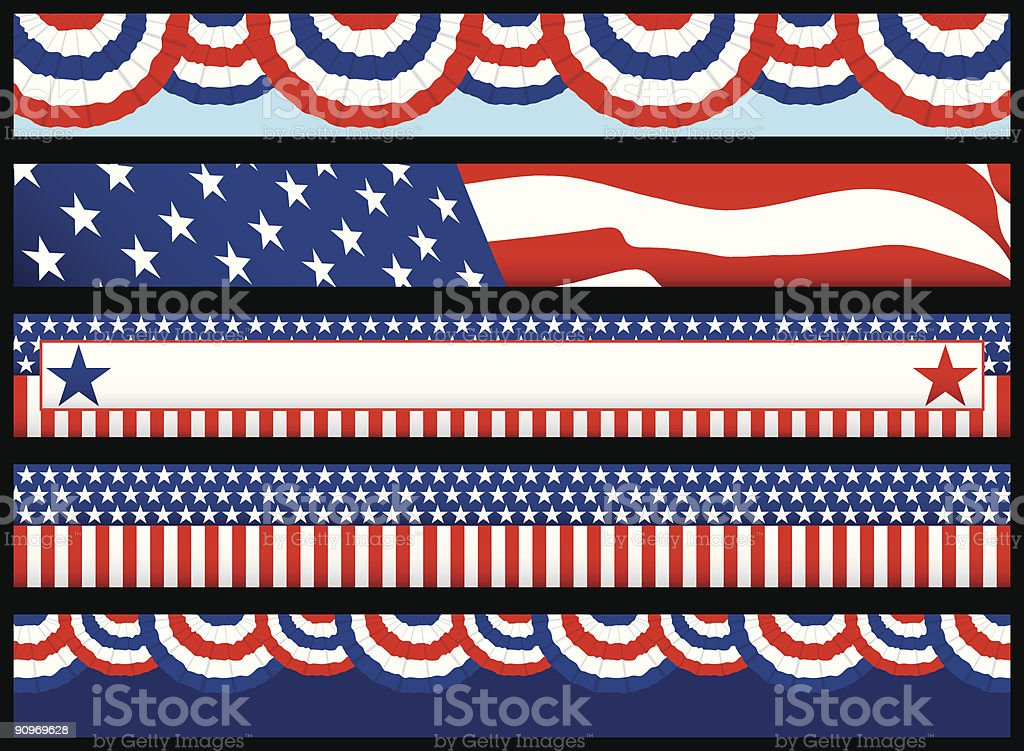 Election Web Banners royalty-free stock vector art