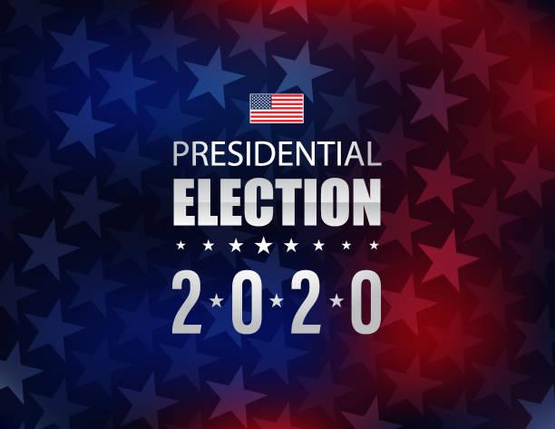 yıldız ve çizgili arka plan ile 2020 abd seçimleri - başkanlık seçimleri stock illustrations