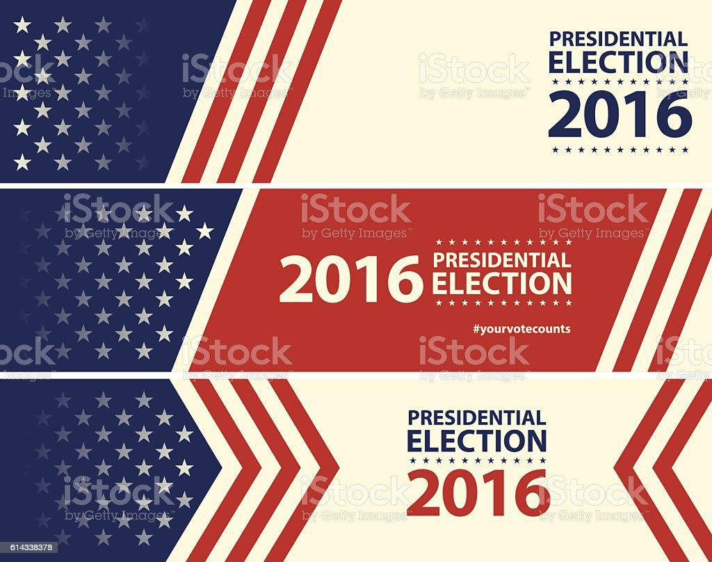 USA Election with stars and stripes banner background vector art illustration