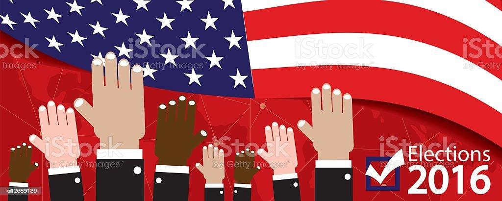 Elections 2016 Banner. vector art illustration