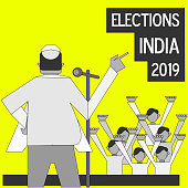 Elections India 2019 illustration vector image