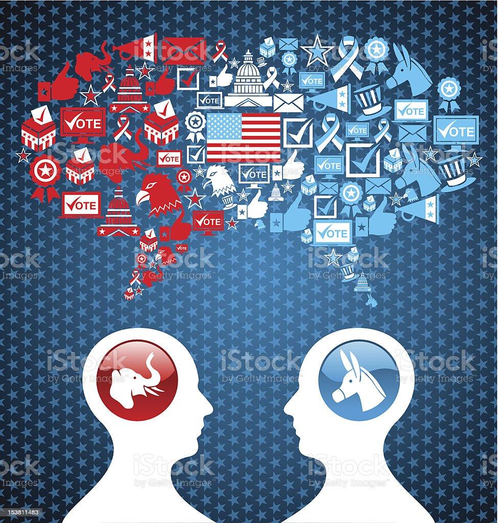USA elections social speech interaction royalty-free stock vector art