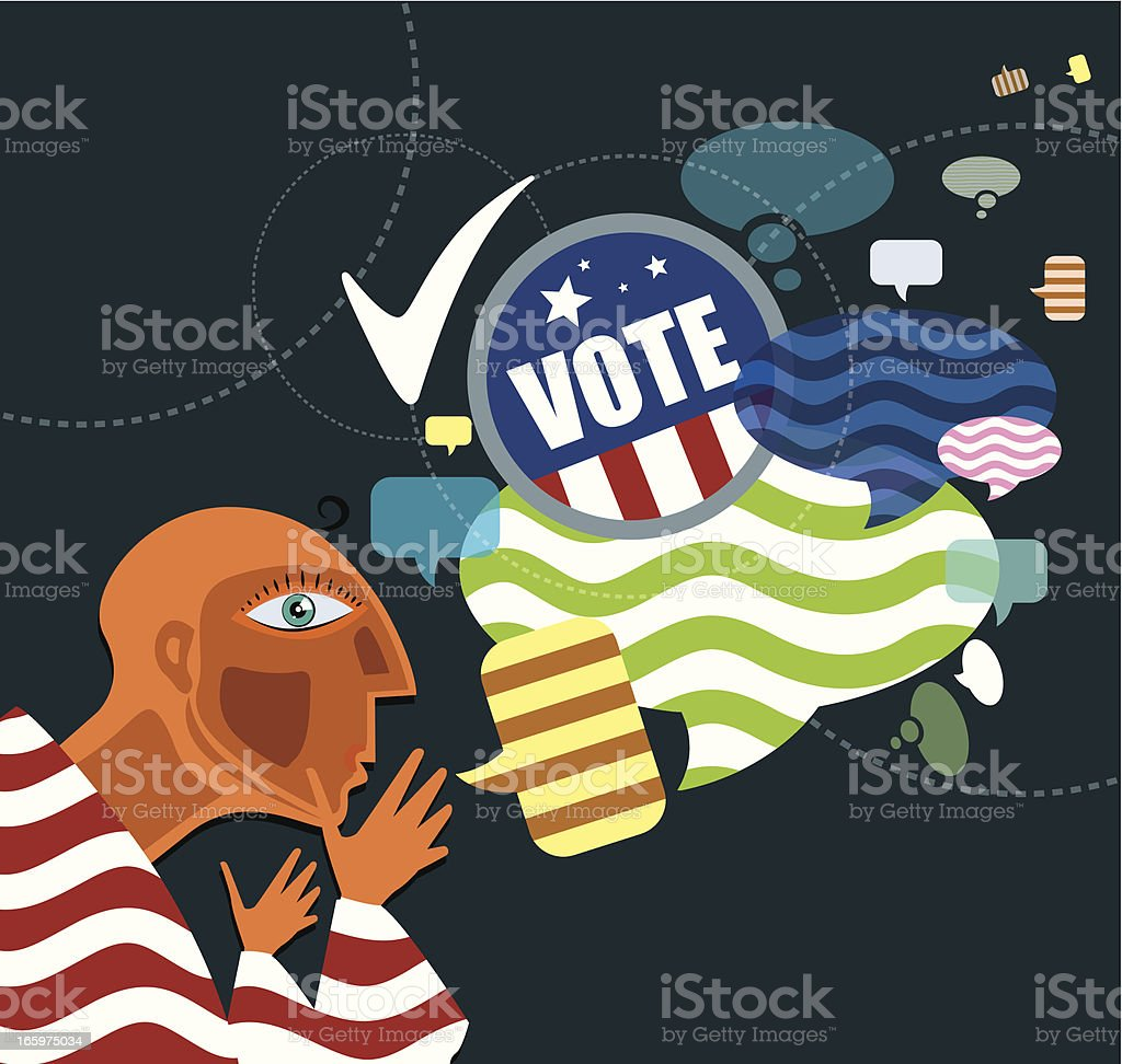 Elections royalty-free stock vector art