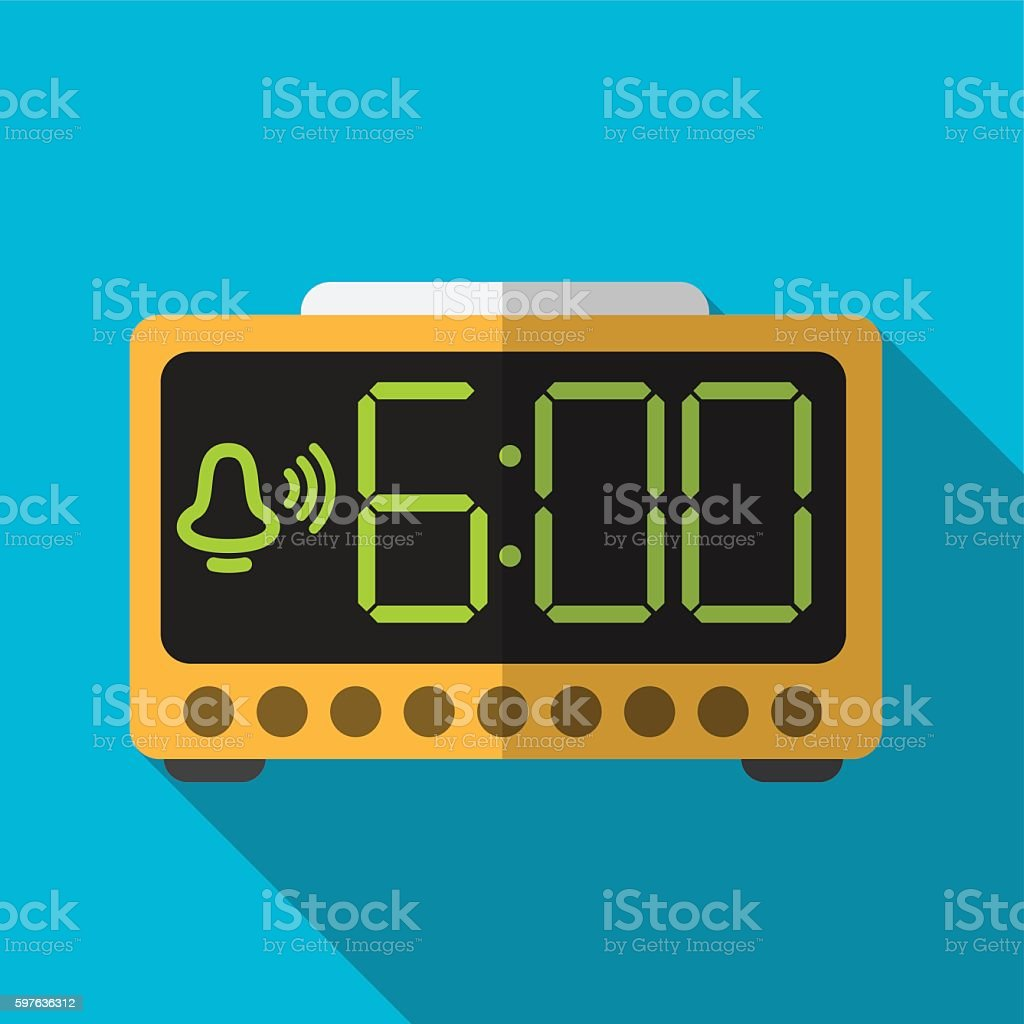 Electric alarm flat icon illustration vector art illustration