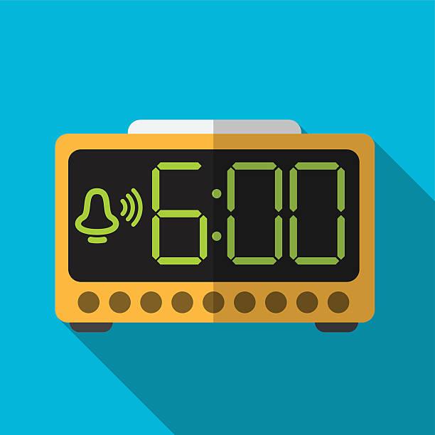 Electric alarm flat icon illustration vector art illustration