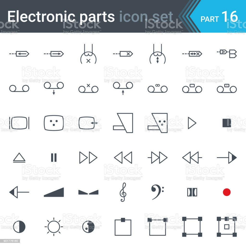 Electric and electronic circuit diagram symbols set of audio and electric and electronic circuit diagram symbols set of audio and video devices function control audio biocorpaavc Gallery