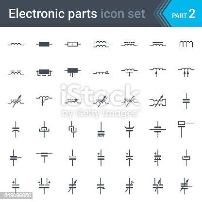 Elektrische Und Elektronische Schaltung Diagramm Symbolsatz Der ...