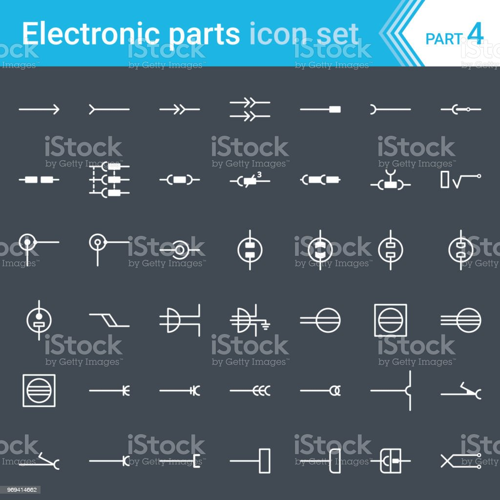 Electric And Electronic Icons Diagram Symbols Electrical Din Wiring Connectors Sockets Plugs