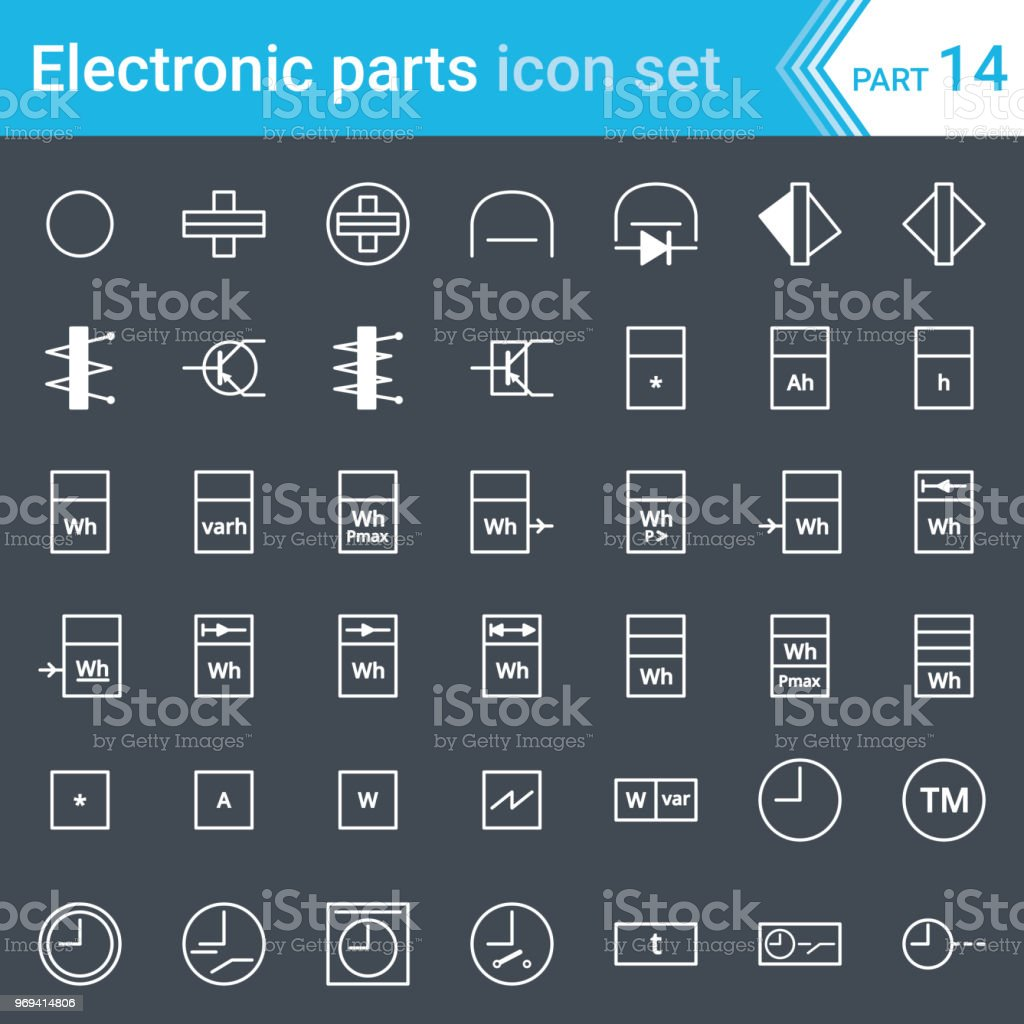 Electric And Electronic Icons Diagram Symbols Electrical Switch Symbol Instrumentation Meters Recorders