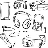 Sketch drawing of electric appliances .