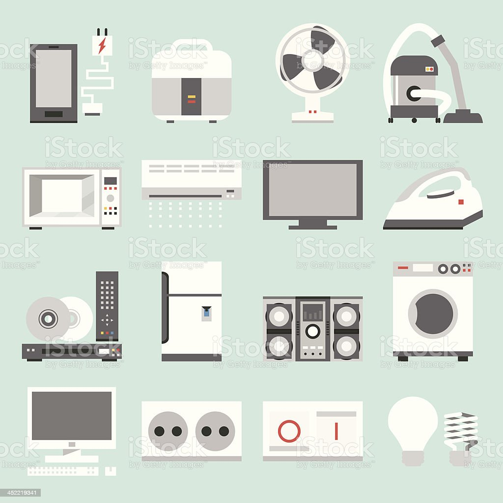 electric appliances icons royalty-free electric appliances icons stock vector art & more images of air conditioner
