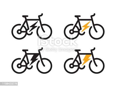 istock Electric bicycle icon 1158423278