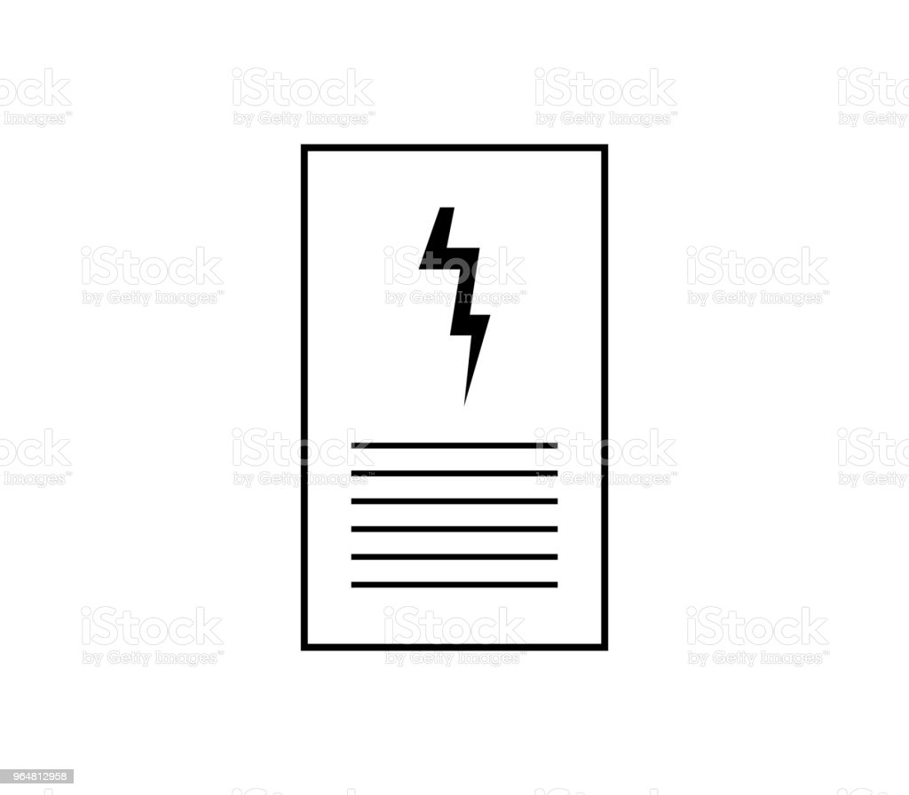 electric bill icon royalty-free electric bill icon stock vector art & more images of electricity