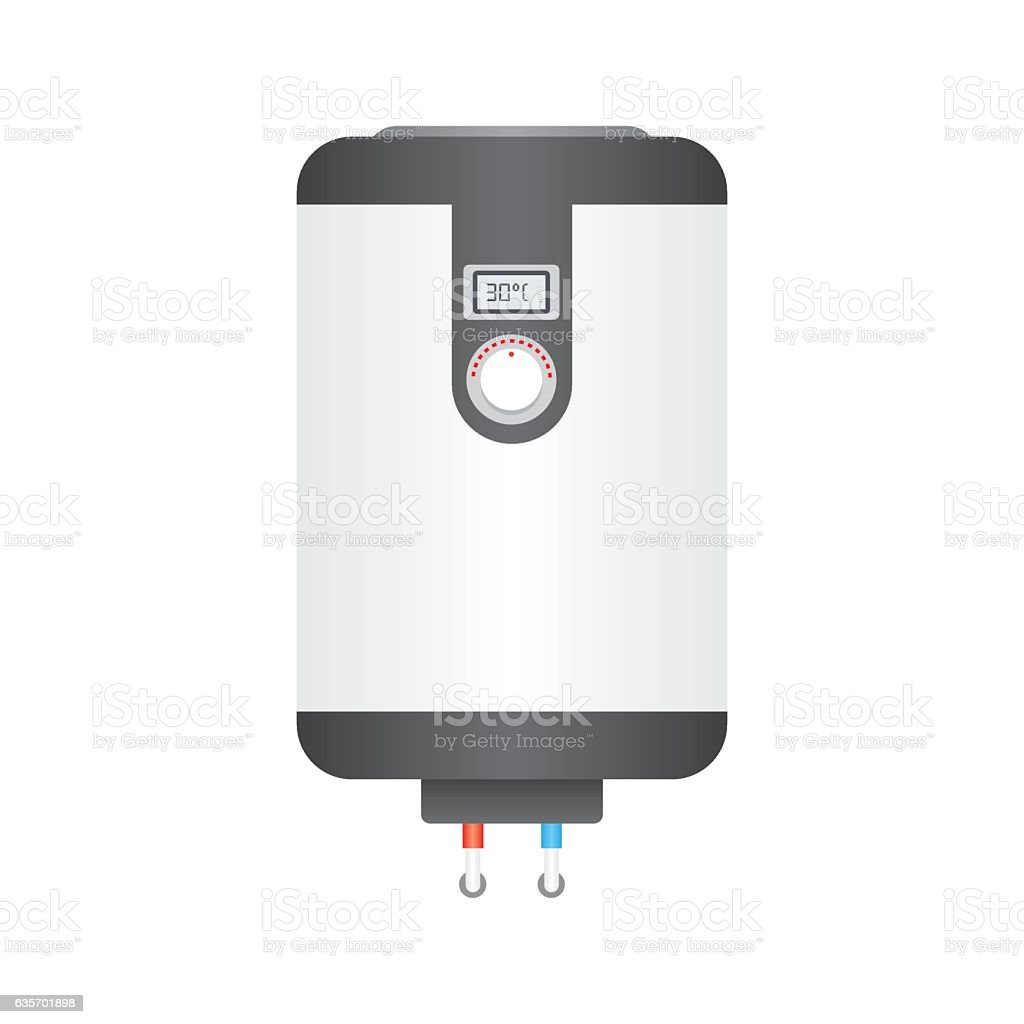 Electric boiler flat icon, royalty-free electric boiler flat icon stock vector art & more images of appliance