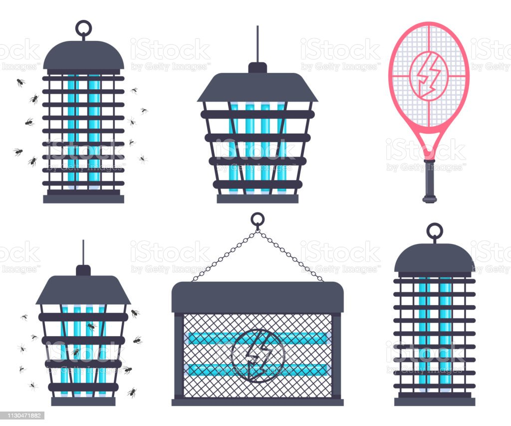 Electric Bug Zapper Fly Swatter Racket And Mosquito Trap