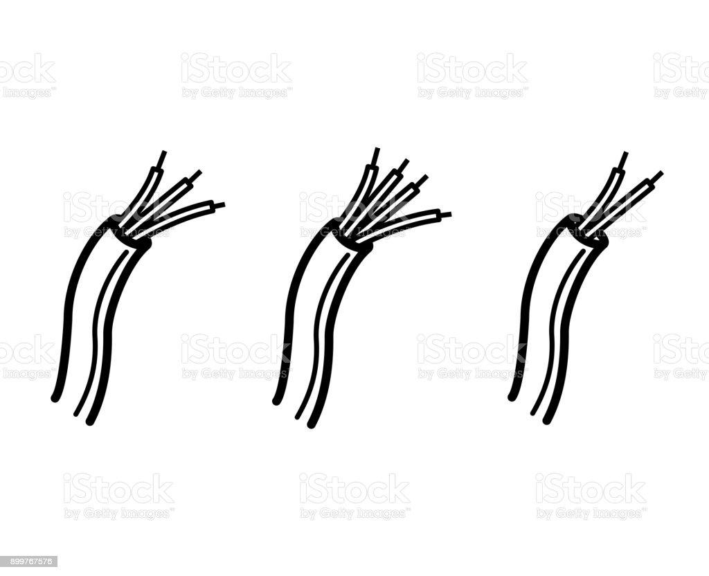 Elektrische Kabel Symbol Drahtsymbol Stock Vektor Art und mehr ...
