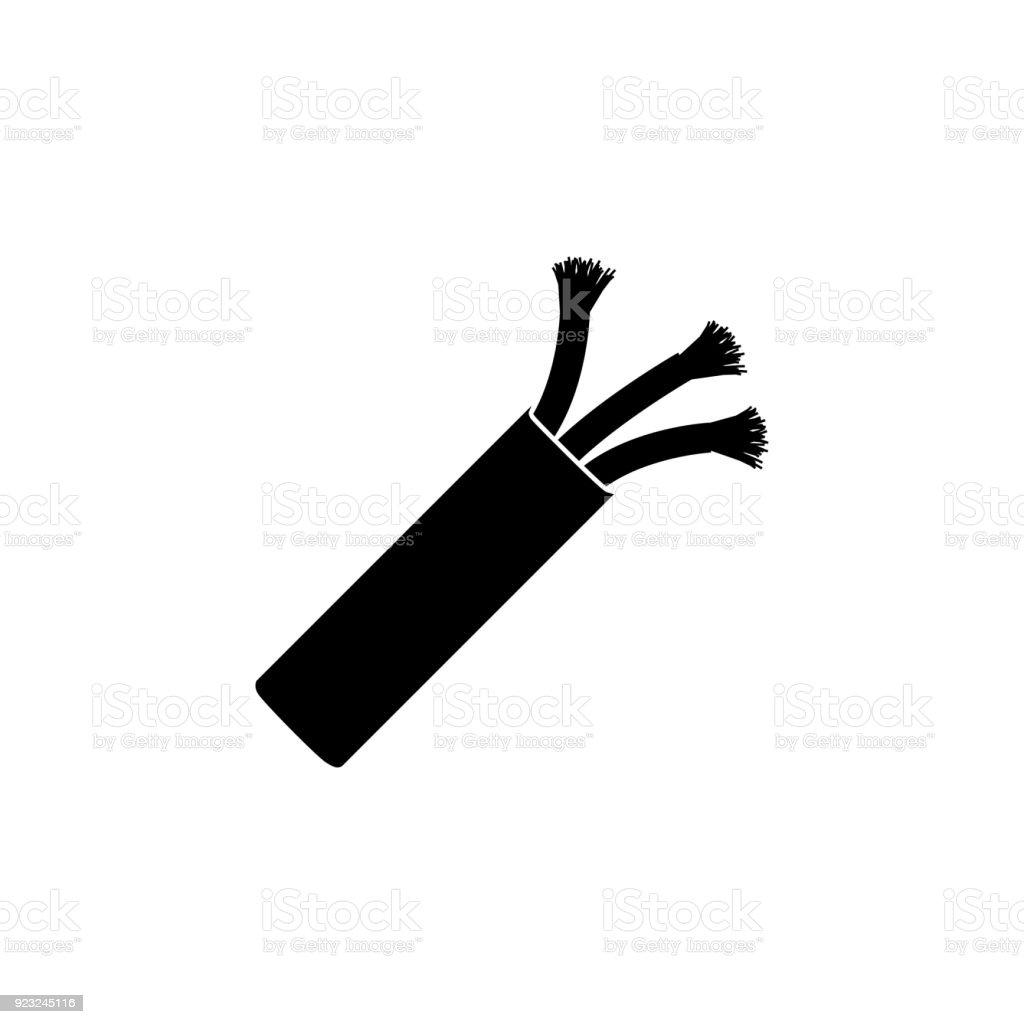 Elektrische Kabelsymbol Drahtsymbol Vektorillustration Stock Vektor ...