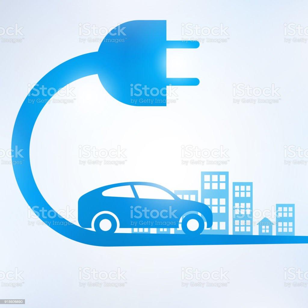 Elektroauto Und Ladestation Elektro Symbol Symbol Stock Vektor Art ...