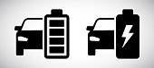 istock Electric car battery icon isolated on white background 1169794252
