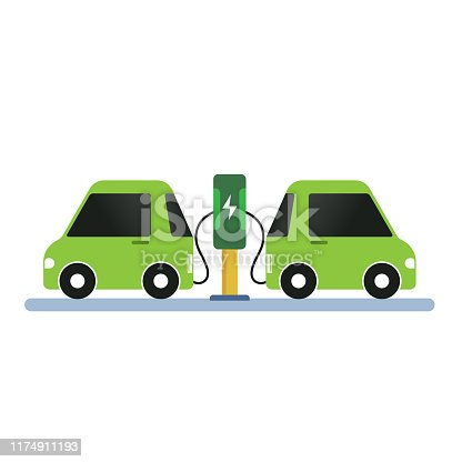 electric car charger. eps 10 vector file