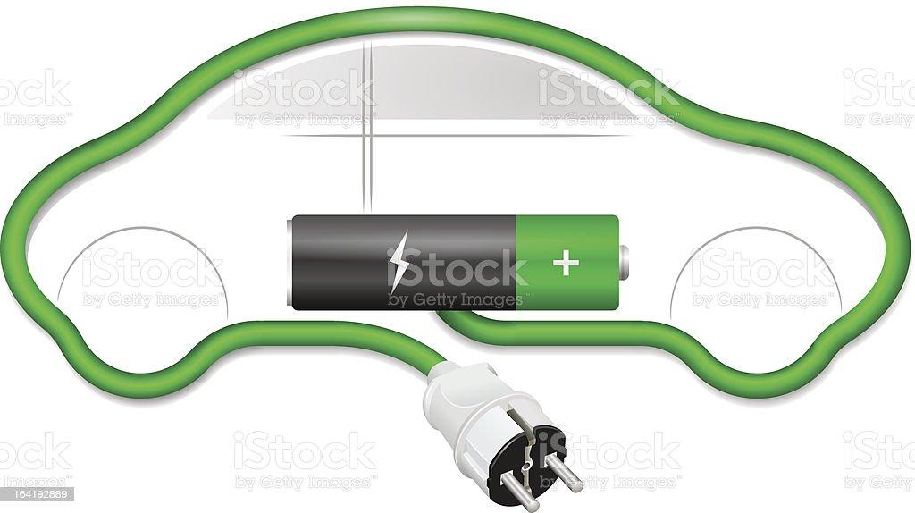 Concetto di auto elettrica - arte vettoriale royalty-free di Automobile