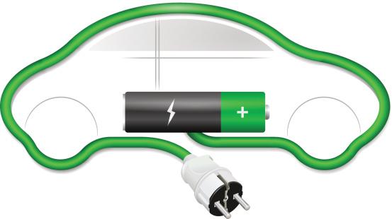Concetto Di Auto Elettrica - Immagini vettoriali stock e altre immagini di Automobile