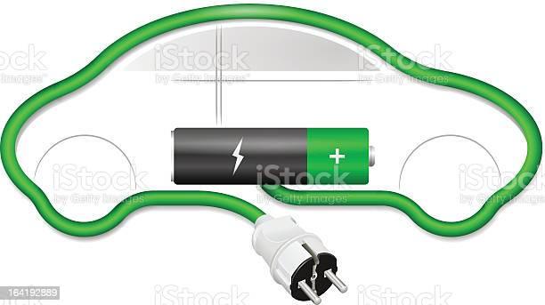 Concetto Di Auto Elettrica - Immagini vettoriali stock e altre immagini di Automobile elettrica