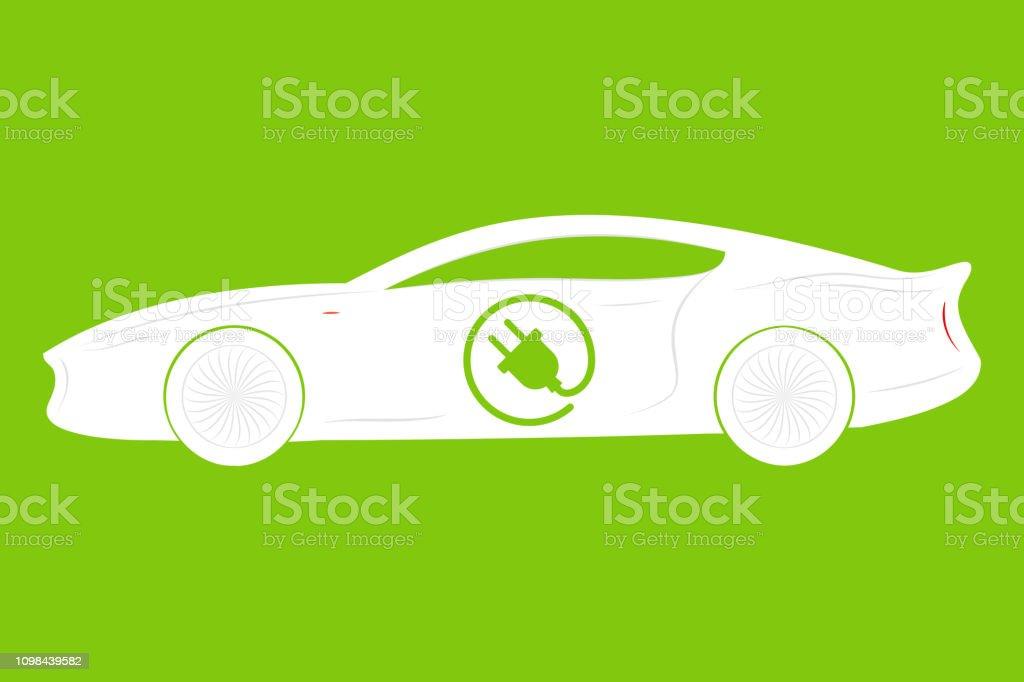 Electric Car Logo. Eco Vehicles Symbol. Ecological Transport Icon....