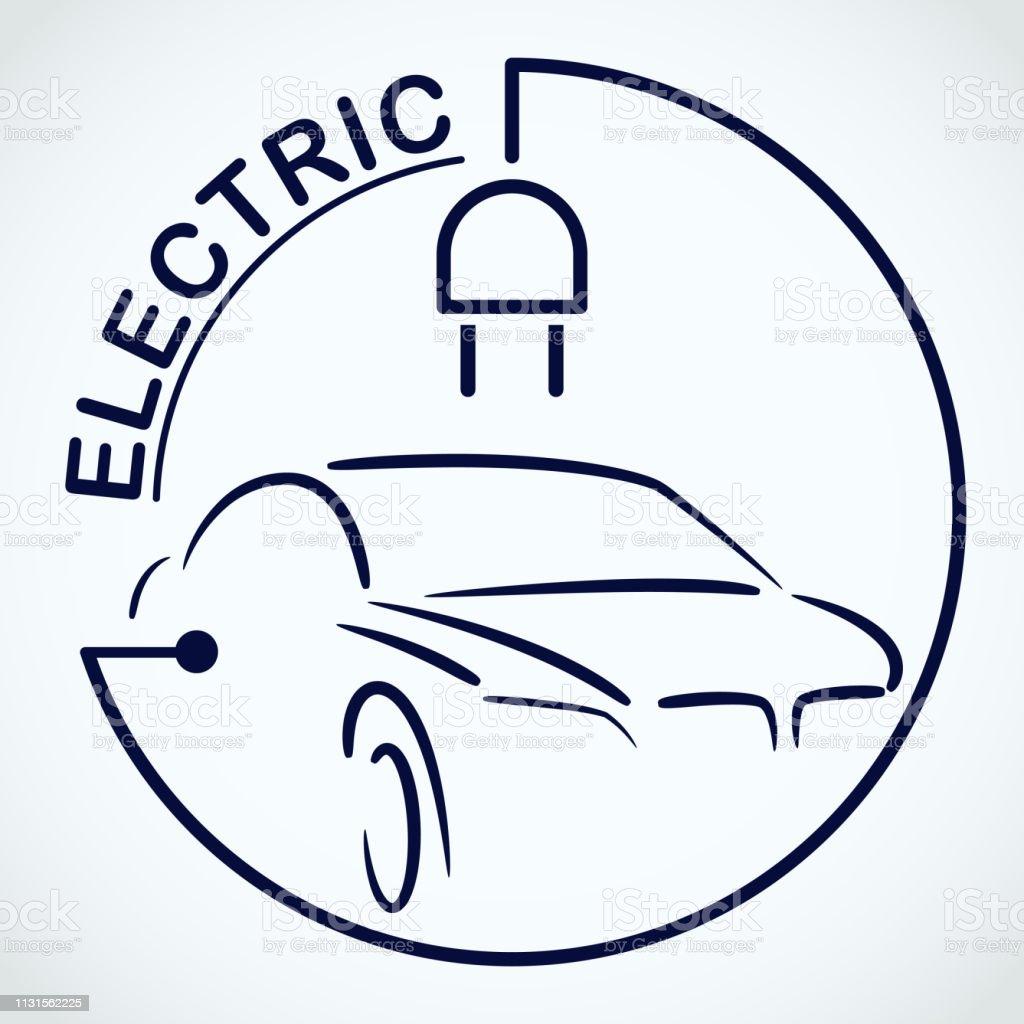Electric Car Logo Eco Vehicles Symbol Ecological Transport Icon...