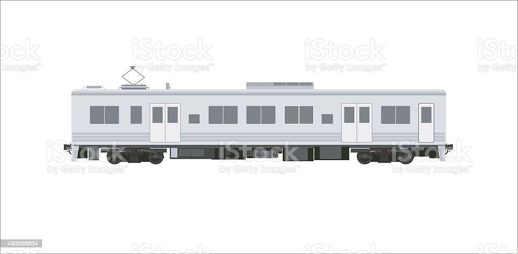 電気自動車鉄道シンプルなイラストレーション ベクターアートイラスト