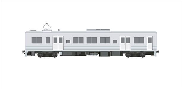 電気自動車鉄道シンプルなイラストレーション - 列車点のイラスト素材/クリップアート素材/マンガ素材/アイコン素材