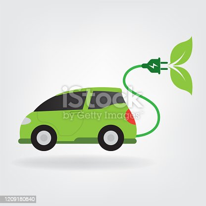 electric car. eps 10 vector file