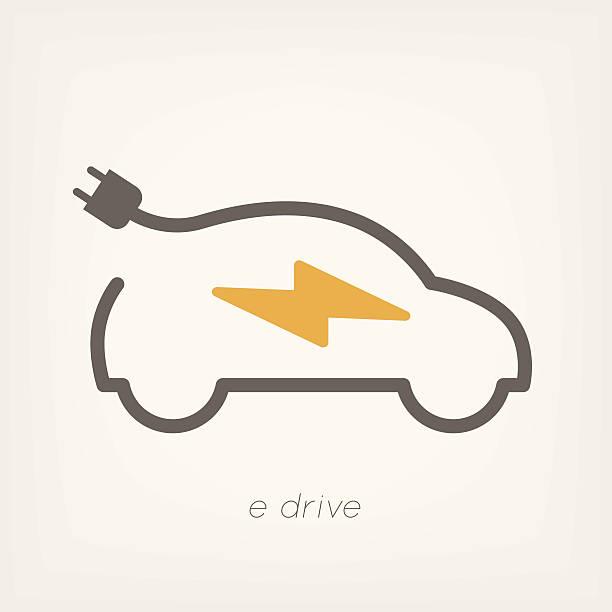Electric car Electric car eps 10 vector illustration hybrid car stock illustrations